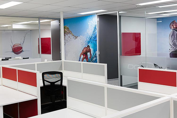An office mural wall will increases your brands awareness