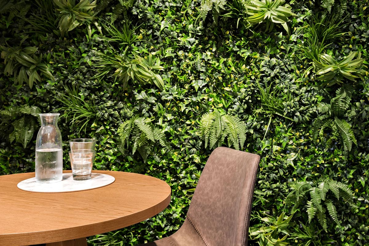 Living green office wall