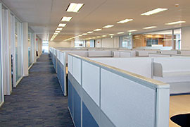 Hyundai open plan workstations