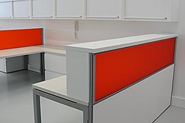 Perspex reception counter