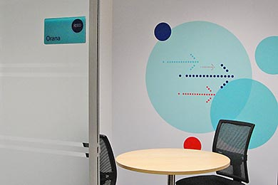 meeting room wall graphics