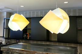 Lighting for cafe fitout