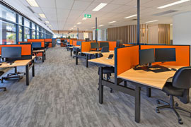 activity based working workstation fitout