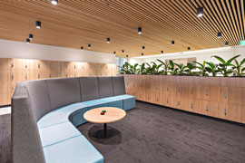 reception waiting area fitout