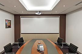 Boardroom recessed ceiling lights