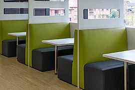 Dining booth fitout