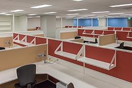 Office workstation partitions