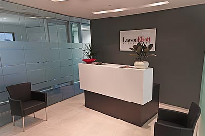 Modern office reception fitout