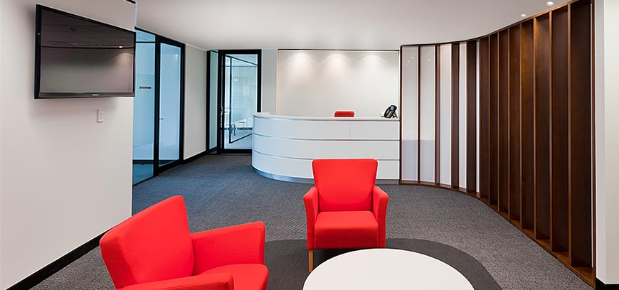 Office reception interior design